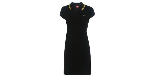 Dámske čierne polo šaty Merc