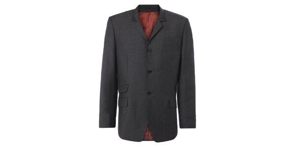 Pánske šedé oblekové sako Merc