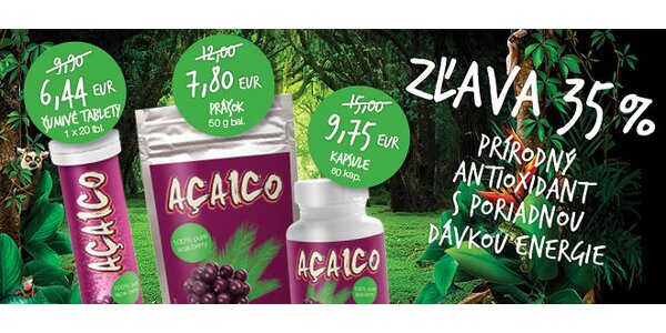Najsilnejší prírodný antioxidant AÇAICO