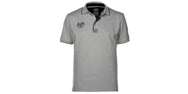 Pánske šedé polo tričko M. Conte