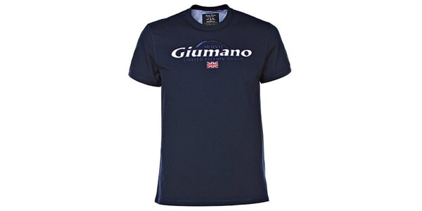 Pánske tmavo modré tričko s kontrastným límčekom M. Conte