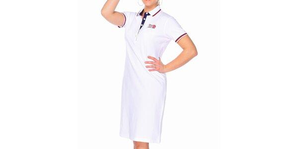 Dámske biele bavlnené šaty M. Conte s límčekom
