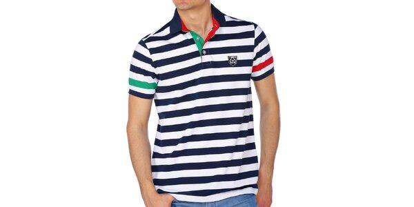 Pánske pruhované polo tričko M. Conte