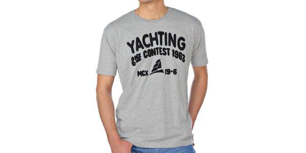 Pánske šedé tričko M. Conte