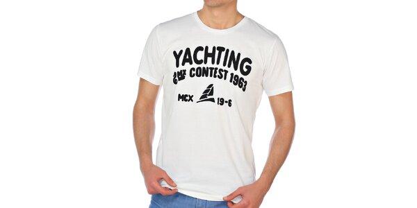 Pánske krémovo biele tričko M. Conte