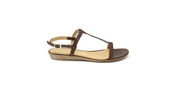 Dámske tmavo hnedé kožené sandále Giorgio Picino
