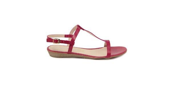 Dámske fuchsiové kožené sandále Giorgio Picino