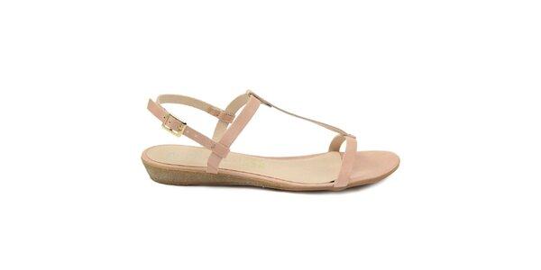 Dámske svetlo ružové kožené sandále Giorgio Picino
