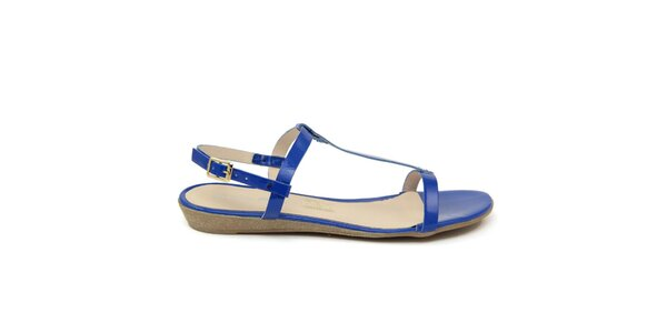 Dámske modré kožené sandále Giorgio Picino