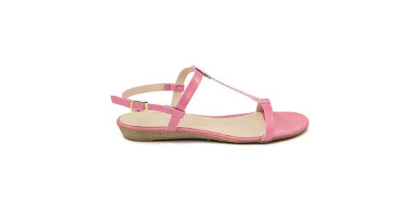 Dámske ružové kožené sandále Giorgio Picino