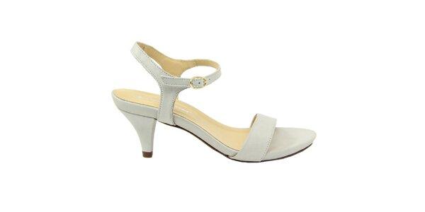 Dámske biele semišové sandále na nízkom opätku Giorgio Picino