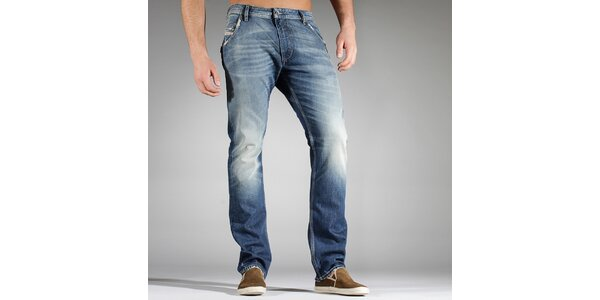 Pánske svetlo modré džínsy Diesel