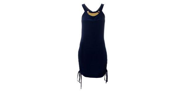 Dámske tmavo modré šaty Via Bellucci so zipsom
