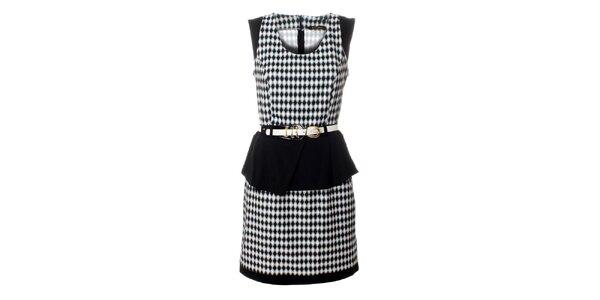 Dámske čierno-biele šaty Via Bellucci