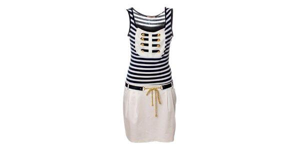 Dámske biele námornícke šaty Via Bellucci