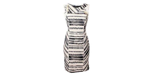 Dámske čierno-biele prúžkované šaty Via Belluci