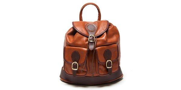 Dámsky koňakový batôžtek Mangotti