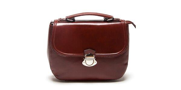 Dámska hnedá kabelka s prackou Mangotti