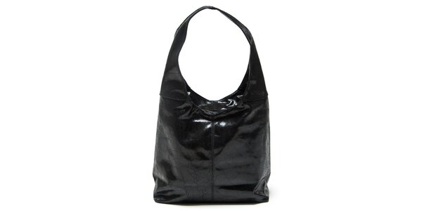 Dámska čierna kabelka s jedným uchom Mangotti