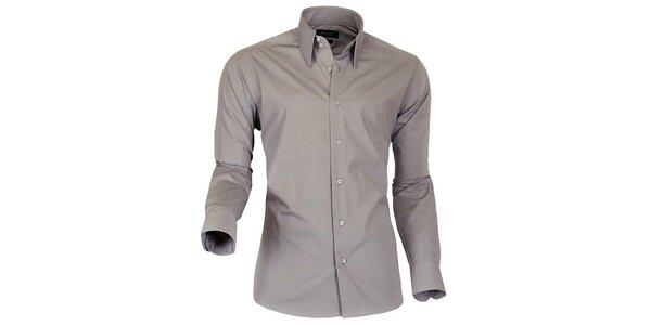 Pánska šedohnedá košeľa Pontto