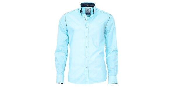 Pánska svetlo tyrkysová košeľa Pontto