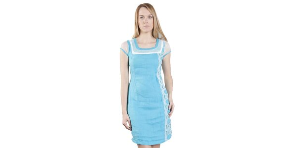 Dámske azurovo modré šaty Via Bellucci
