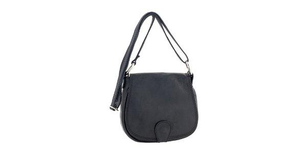 Dámska menšia kožená kabelka v čiernej farbe Ore 10