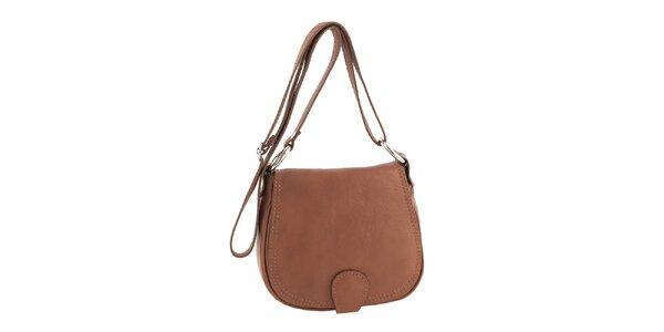 Dámska menšia kožená kabelka v hnedej farbe Ore 10