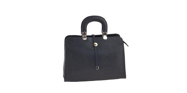 Dámska čierna kožená kabelka Ore 10