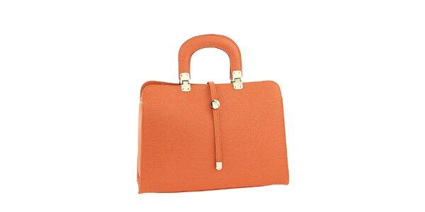 Dámska oranžová kožená kabelka Ore 10