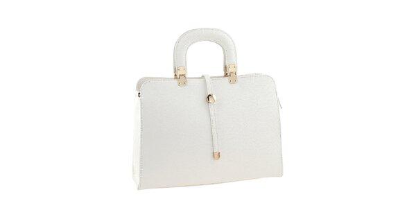 Dámska biela kožená kabelka Ore 10