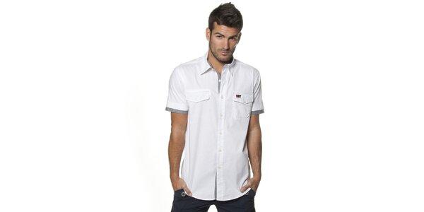 Pánska biela košeľa Unitryb
