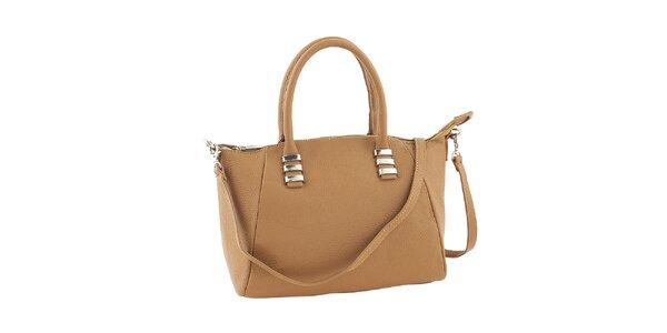 Dámska kožená kabelka v hnedej farbe Ore 10