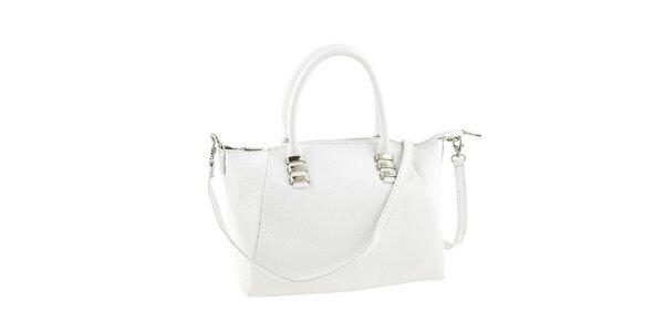 Dámska kožená kabelka v bielej farbe Ore 10