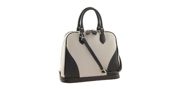 Dámska čierno-béžová kožená kabelka Ore 10