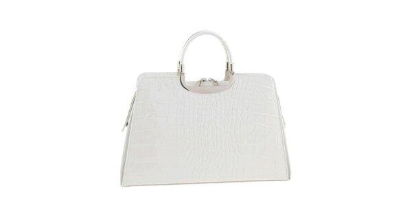 Dámska snehobiela kožená kabelka Ore 10