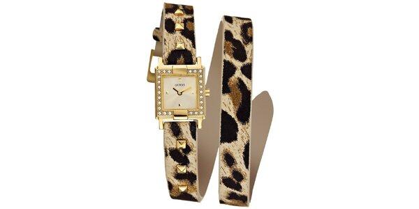 Dámske zlaté náramkové hodinky Guess