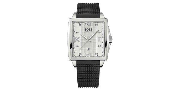 Unisexové hranaté strieborné hodinky Hugo Boss Orange