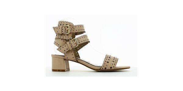Dámske telové perforované sandálky Shoes and the City