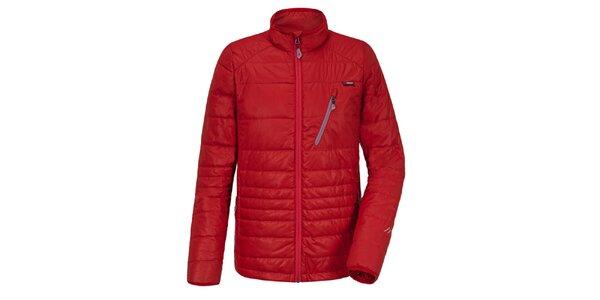 Pánska červená prešívaná funkčná bunda Maier
