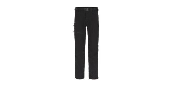 Pánske čierne trekové funkčné nohavice Maier