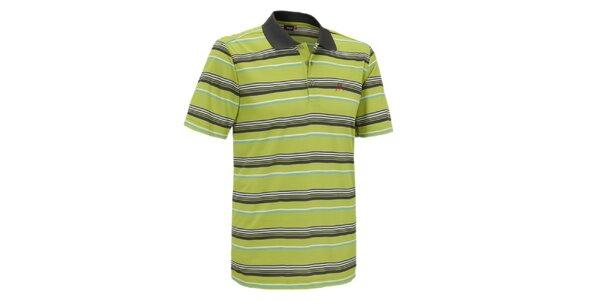 Pánske zelené pruhované polo tričko Maier