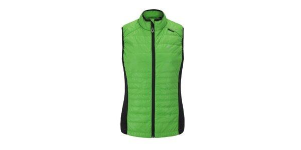 Dámska zelená prešívaná vesta Maier
