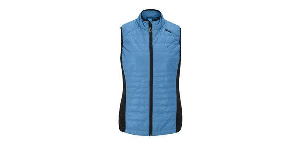 Dámska modrá prešívaná vesta Maier