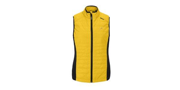 Dámska žltá prešívaná vesta Maier