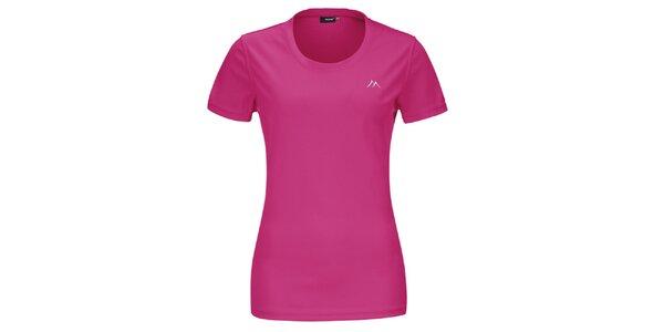 Dámske ružové funkčné tričko s krátkym rukávom Maier