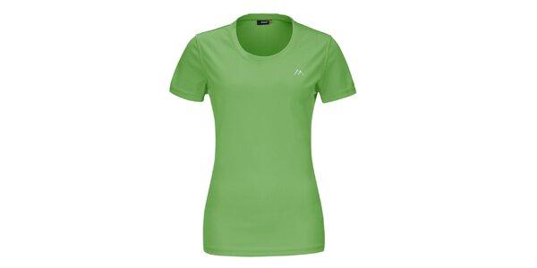 Dámske zelené funkčné tričko s krátkym rukávom Maier
