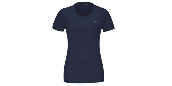 Dámske tmavo modré funkčné tričko s krátkym rukávom Maier