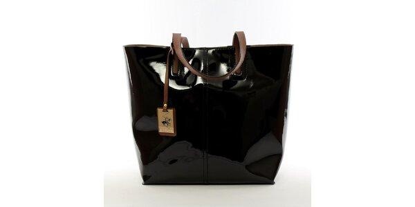Dámska čierna kabelka s vynímateľným vreckom Beverly Hills Polo Club