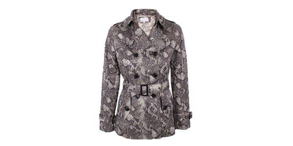 Dámsky dvojradý kabátik s motívom hadej kože Company&Co